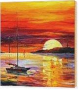 Golden Gate Bridge By The Sunset Wood Print