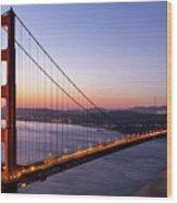 Golden Gate Bridge During Sunrise Wood Print