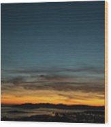 Golden Gate Bridge Dusk Wood Print