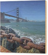 Golden Gate Bridge Wood Print by Everet Regal