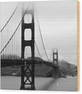 Golden Gate Bridge Wood Print by Federica Gentile