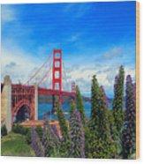 Golden Gate Bridge Five Wood Print