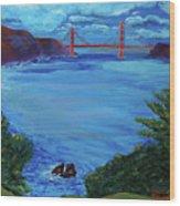 Golden Gate Bridge From Lincoln Park Wood Print