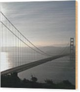 Golden Gate Bridge From Marin County Wood Print