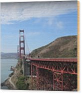 Golden Gate Bridge From The Scenic Lookout Point Wood Print