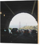 Golden Gate Bridge From Tunnel Wood Print