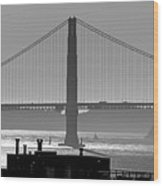 Golden Gate Bridge In Its Beauty At Sunset Wood Print