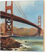 Golden Gate Bridge Looking North Wood Print