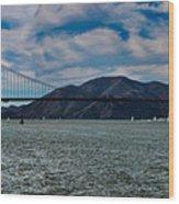 Golden Gate Bridge Panoramic Wood Print