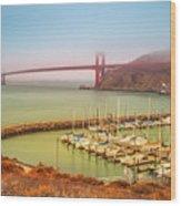 Golden Gate Bridge Sausalito Wood Print