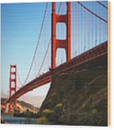 Golden Gate Bridge Sausalito Wood Print by Doug Sturgess