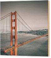 Golden Gate Bridge Selective Color Wood Print