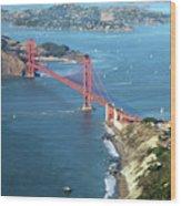 Golden Gate Bridge Wood Print by Stickney Design