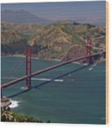 Golden Gate Wood Print by Donna Blackhall