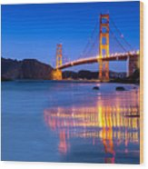 Golden Gate Dreams Wood Print