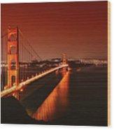Golden Gate Evening Wood Print
