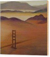 Golden Gate Fog Wood Print