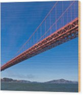 Golden Gate From The Bay Wood Print