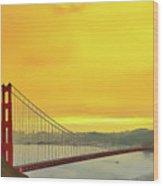 Golden Gate Wood Print