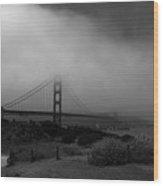 Golden Gate Morning Wood Print