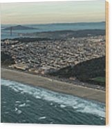 Golden Gate Park And Ocean Beach In San Francisco Wood Print