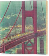 Golden Gate Portrait Wood Print