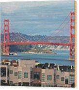 Golden Gate Wood Print by Stickney Design