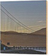 Golden Gate Sunset Wood Print