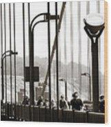 Golden Gate Suspension Wood Print