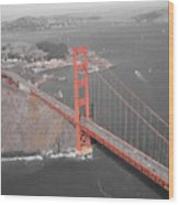 Golden Gate The Color Of The Bridge Wood Print