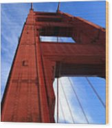 Golden Gate Tower Wood Print