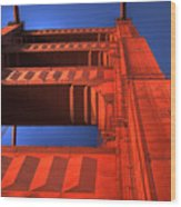 Golden Gate Tower Wood Print
