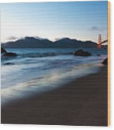 Golden Gate Tranquility Wood Print