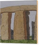 Golden Glow- Stonehenge Wood Print