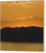 Golden Glow Sunset Wood Print