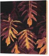 Golden Growth Wood Print