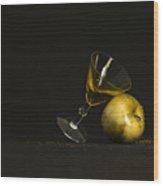 Golden Happy Hour Wood Print