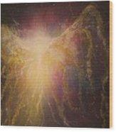 Golden Healing Angel Wood Print