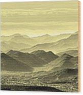 Golden Hills Of The Tonto Wood Print