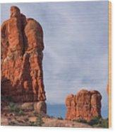 Golden Hoodoos Arches Np Wood Print