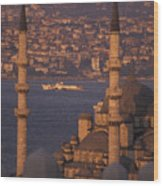Golden Horn At Sunset From Suleymaniye Wood Print