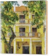 Golden Hotel Wood Print
