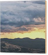 Golden Hour In Volterra Wood Print