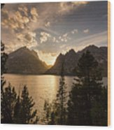 Golden Jenny Lake View Wood Print