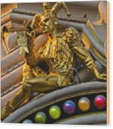 Golden Jester Wood Print