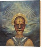 Golden Jungle Queen Wood Print