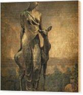 Golden Lady Wood Print