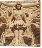 Golden Lady Wood Print