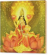 Golden Lakshmi Wood Print