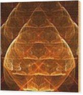 Golden Lamps Wood Print